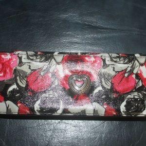 Brighton Madison Rose floral jewelry travel case